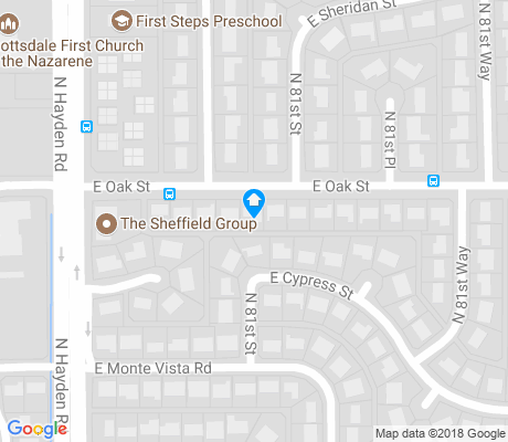map of Cox Heights apartments for rent