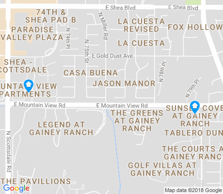 map of Gainey Ranch apartments for rent