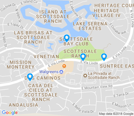 map of Scottsdale Ranch apartments for rent
