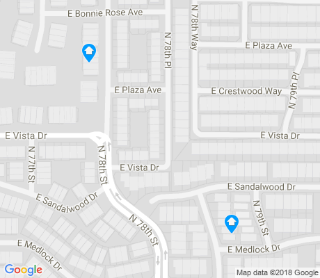 map of Villa Monterey apartments for rent