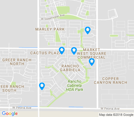 map of Rancho Gabriela apartments for rent