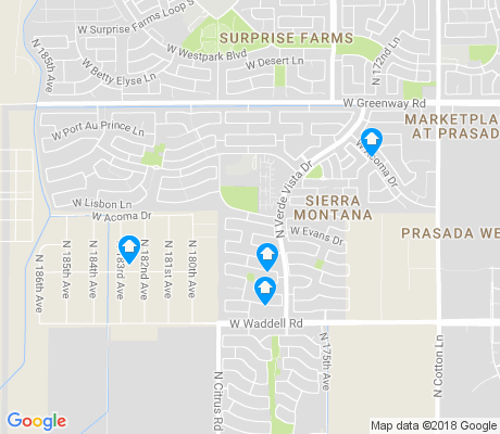 map of Sierra Montana apartments for rent