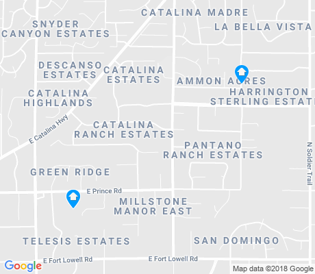 map of Tanque Verde apartments for rent
