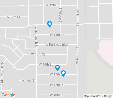 map of Clark Park apartments for rent