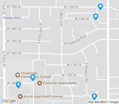 map of Holdeman apartments for rent