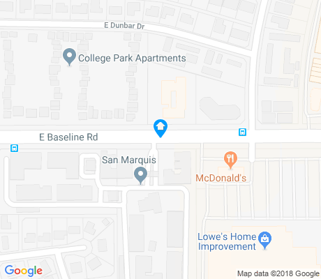 map of Kiwanis Park apartments for rent