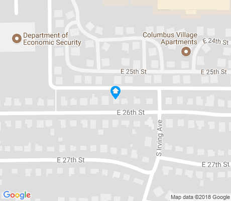 map of Alvernon Heights apartments for rent
