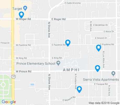 map of Amphi apartments for rent