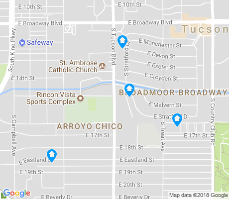 map of Arroyo Chico apartments for rent