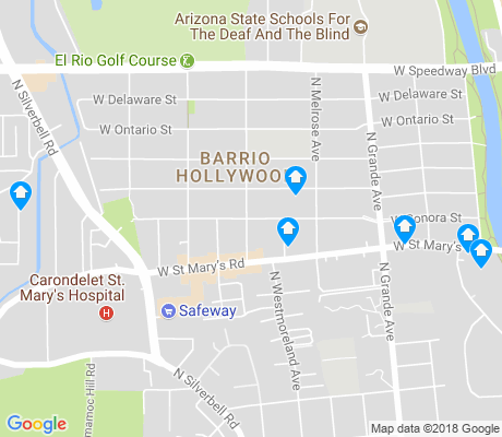 map of Barrio Hollywood apartments for rent