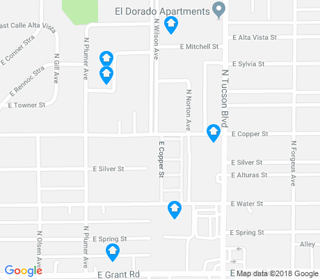 map of Campbell-Grant apartments for rent