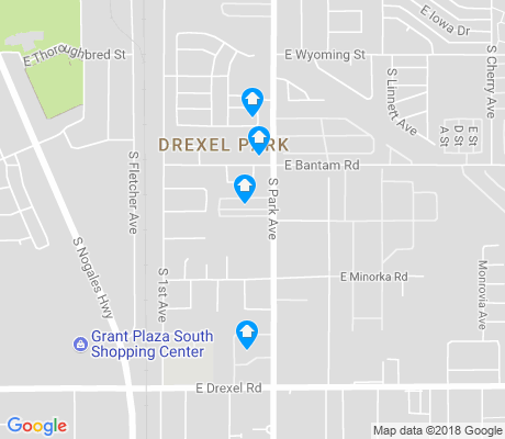map of Drexel Park apartments for rent