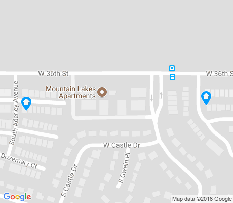 map of Enchanted Hills apartments for rent