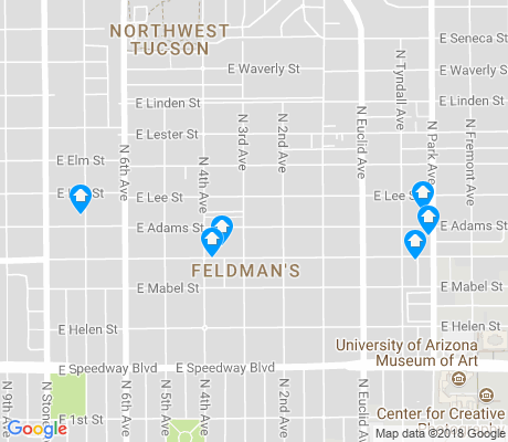 map of Feldman's apartments for rent