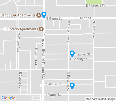 map of Grant-Glenn apartments for rent
