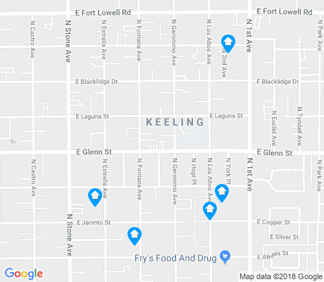 map of Keeling apartments for rent