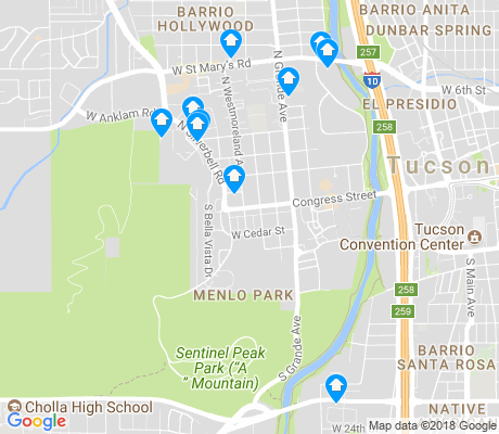 map of Menlo Park apartments for rent