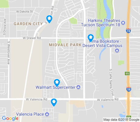 map of Midvale Park apartments for rent