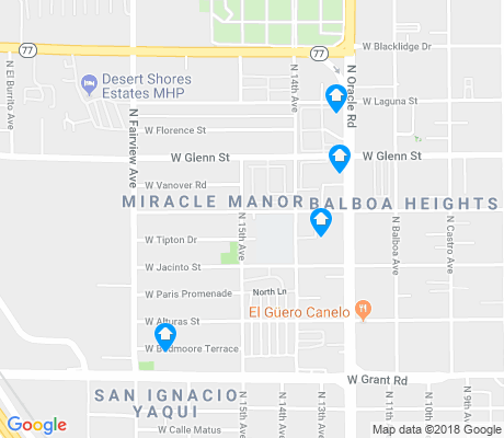 map of Miracle Manor apartments for rent