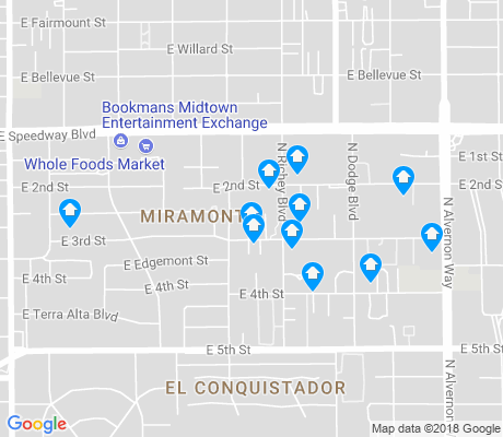 map of Miramonte apartments for rent
