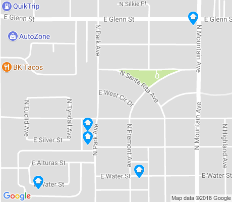 map of Mountain 1st Avenue apartments for rent