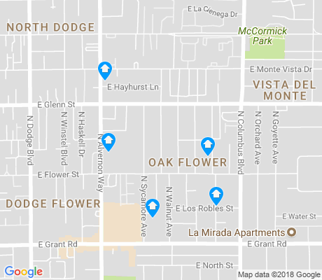 map of Oak Flower apartments for rent