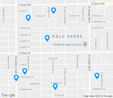 map of Palo Verde apartments for rent