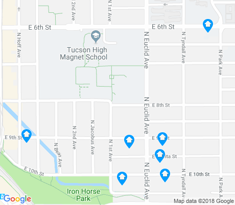 map of Pie Allen apartments for rent