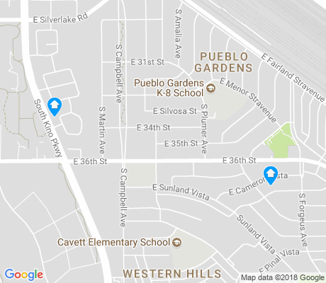 map of Pueblo Gardens apartments for rent