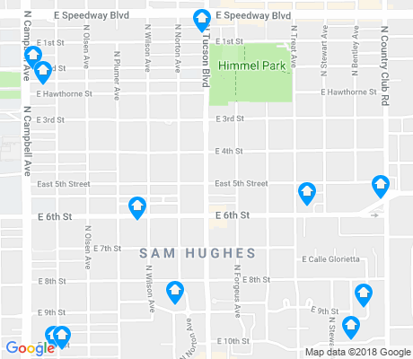 map of Sam Hughes apartments for rent