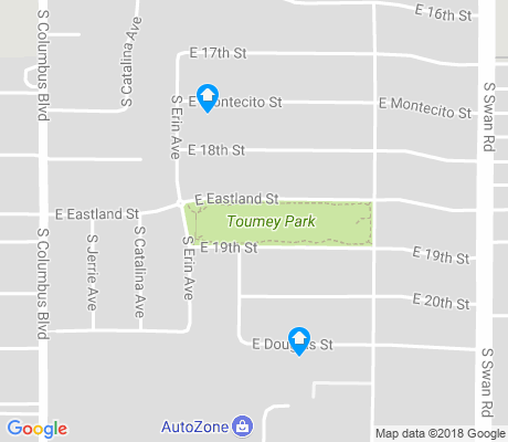 map of Toumey Park apartments for rent