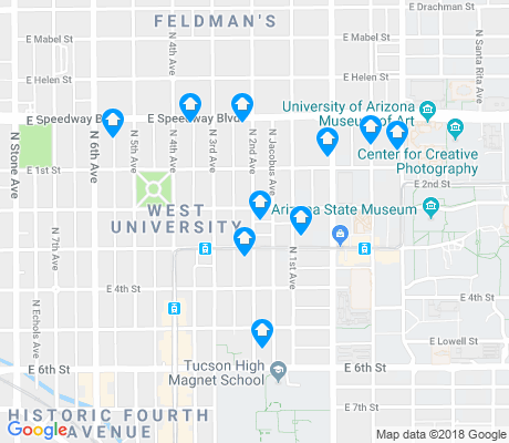 map of West University apartments for rent