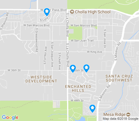 map of Westside Development apartments for rent