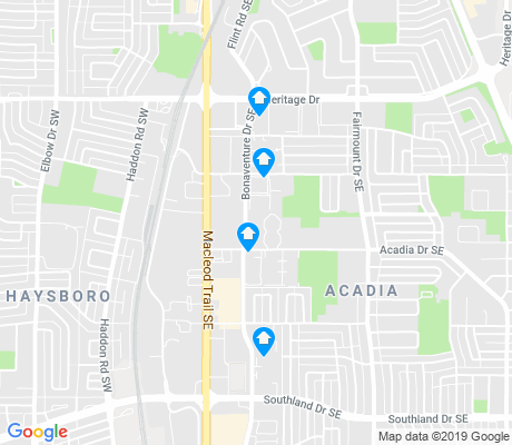 map of Acadia apartments for rent