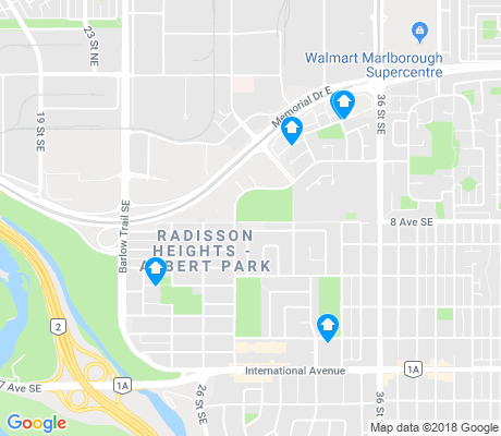 map of Albert Park/radisson Heights apartments for rent
