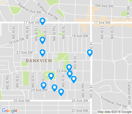 map of Bankview apartments for rent