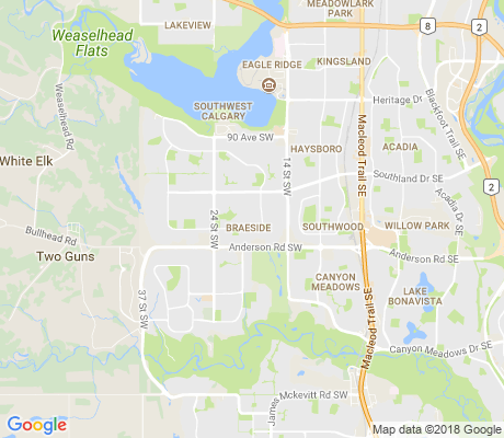map of Braeside apartments for rent