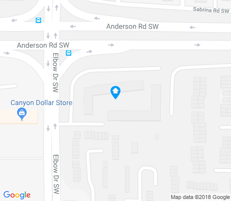map of Canyon Meadows apartments for rent