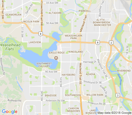 map of Chinook Park apartments for rent
