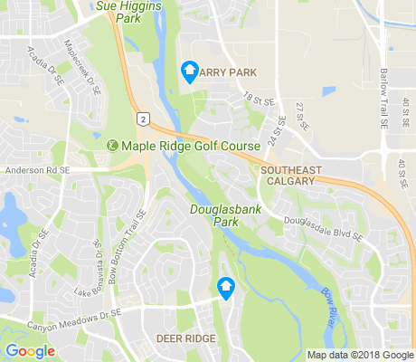 map of Douglasdale/glen apartments for rent