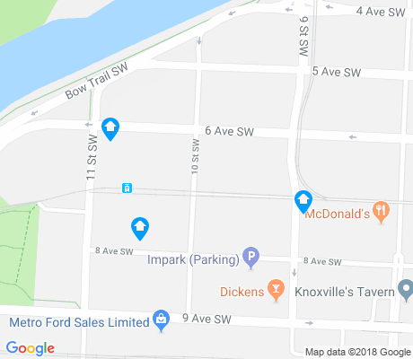 map of Downtown West End apartments for rent