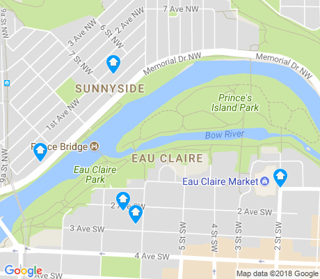 map of Eau Claire apartments for rent
