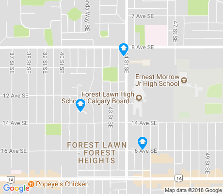 map of Forest Lawn apartments for rent