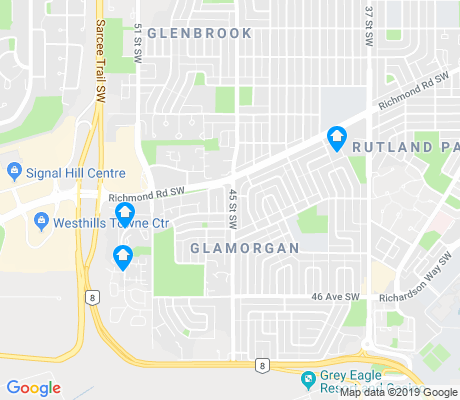 map of Glamorgan apartments for rent