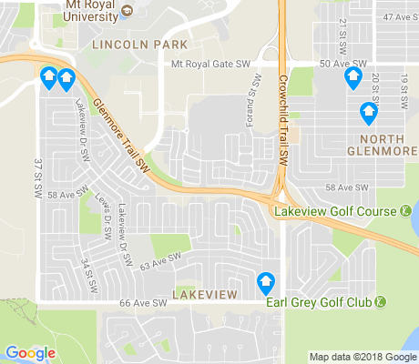 map of Glenmore Park apartments for rent