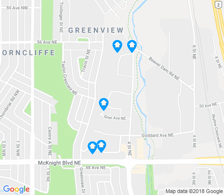 map of Greenview apartments for rent