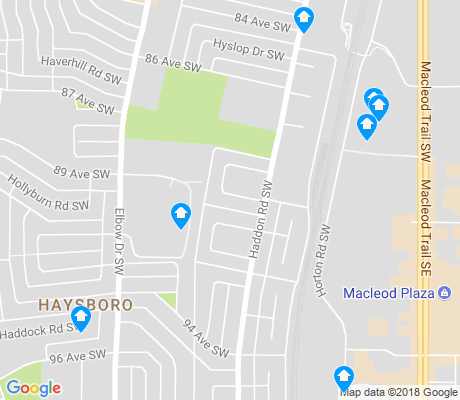 map of Haysboro apartments for rent