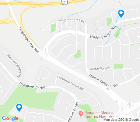 map of Hidden Valley apartments for rent