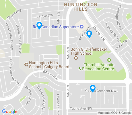 map of Huntington Hills apartments for rent