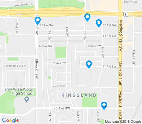 map of Kingsland apartments for rent